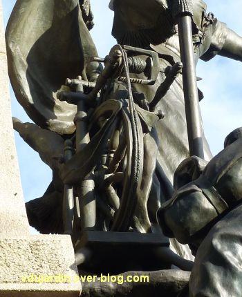 Limoges, monument aux morts de 1870, 7, le rouet