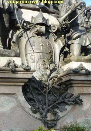 Limoges, monument aux morts de 1870, 8, armoiries