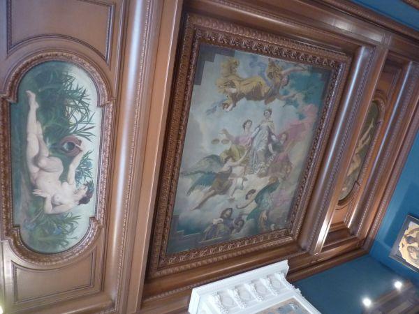Poitiers, plafond de la salle du blason de l'hôtel de ville, 1, vue générale