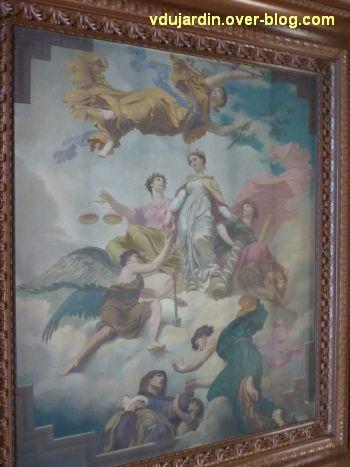 Poitiers, plafond de la salle du blason de l'hôtel de ville, 2, partie centrale