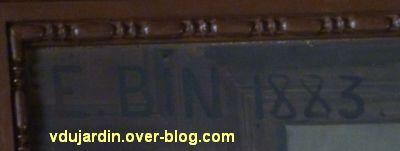Poitiers, plafond de la salle du blason de l'hôtel de ville, 3, signature Eugène Bin 1883
