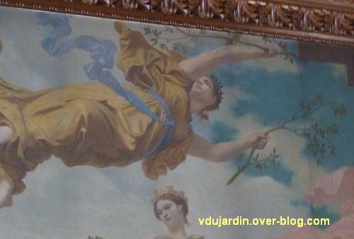 Poitiers, plafond de la salle du blason de l'hôtel de ville, 5, détail de la partie centrale
