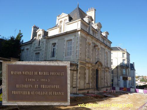 la maison natale de Michel Foucauld, 10 rue Arthur Ranc à Poitiers