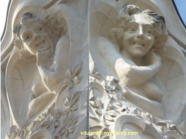 L'Alcazar à Angers, 6, sculptures de la façade droite