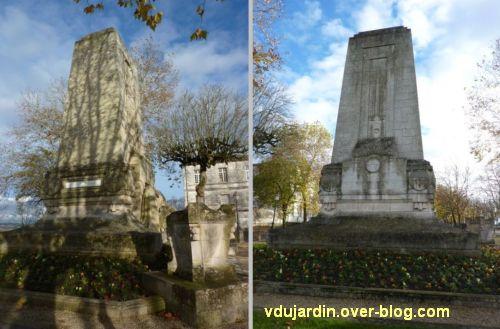 Angoulême, monument aux morts de 1914-1918, 6, vues de côté et de dos