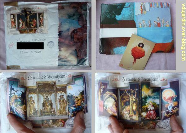 Mon anniversaire 2012 par Zazimuth, 1, l'enveloppe et les timbres