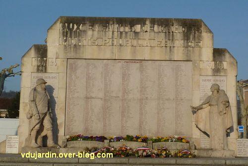 Cahors, monument aux morts de 1914-1918, 1, vue de face