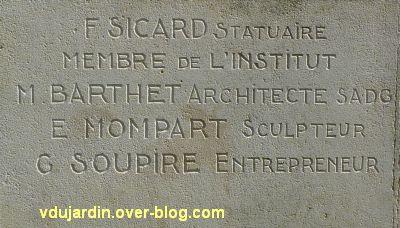 Cahors, monument aux morts de 1914-1918, 3, signatures