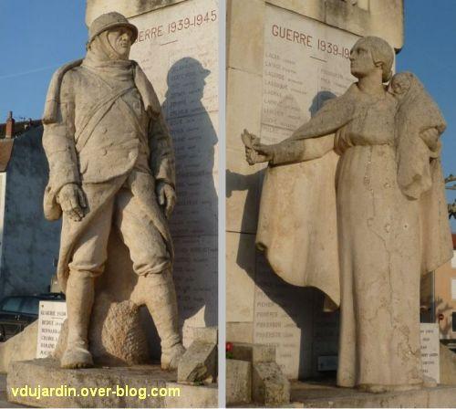 Cahors, monument aux morts de 1914-1918, 4, le soldat, la mère et le bébé