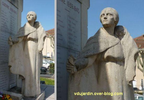 Cahors, monument aux morts de 1914-1918, 6, deux vues de la mère et du bébé