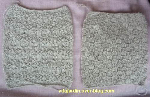 Les deux derniers carrés au tricot pour Brigitbrod