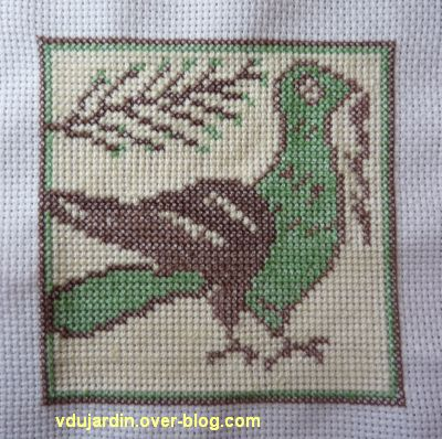 Carreau médiéval avec un oiseau, 3, terminé