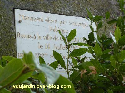 Châtellerault, monument aux morts de 1870, 6, dédicace
