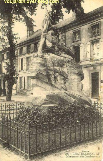 Châtellerault, monument aux morts de 1870, 1, carte postale ancienne