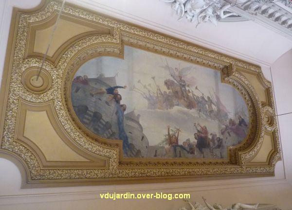 Poitiers, plafond de la salle des fêtes de l'hôtel de ville, 1, vue générale
