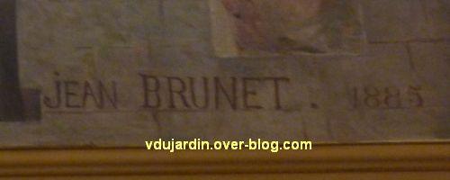 Poitiers, plafond de la salle des fêtes de l'hôtel de ville, 2, signature de Jean Brunet 1885