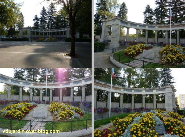 Lons-le-Saunier, monument aux morts de 1914-1918, quatre vues de face