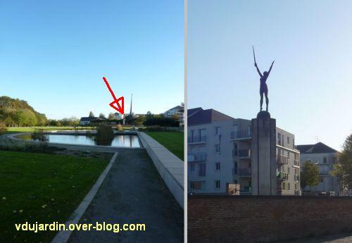 Nantes, la délivrance déplacée du monument aux morts de 1914-1918, 1, de loin