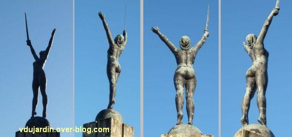 Nantes, la délivrance déplacée du monument aux morts de 1914-1918, 2, quatre vues