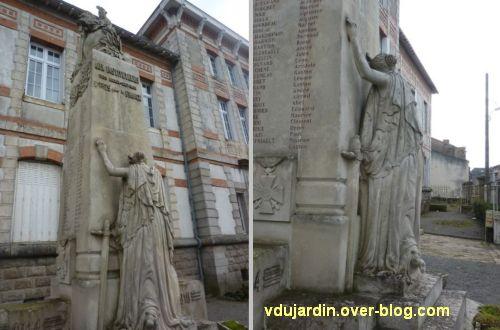 Monument aux morts du Marchioux à Parthenay, 3, deux vues générales