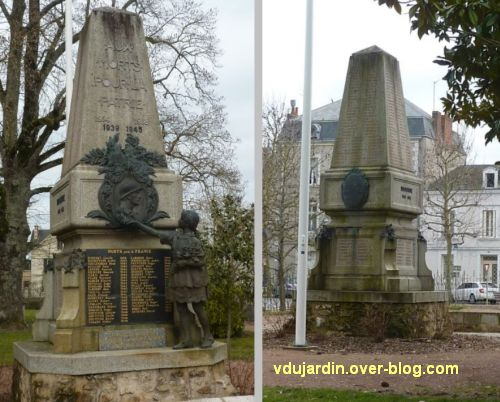 Parthenay, le monument aux morts de 1914-1918, 3, vu de face et de dos
