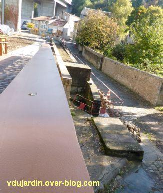 Poitiers, novembre 2012, 03, aménagements aux abords de la nouvelle passerelle