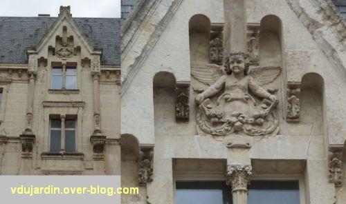 Poitiers, 3 rue Victor Hugo, 3, partie supérieure de la travée centrale