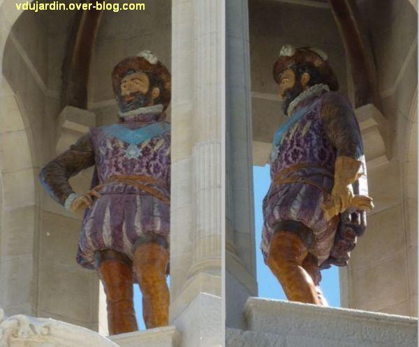 Hôtel de ville de La Rochelle, statue de Henri IV, 3, vues de face et de profil