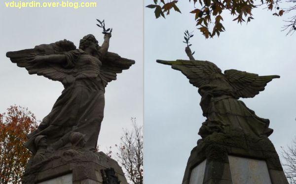 Les Sables-d'Olonne, monument aux morts de 1914-1918, 3, Victoire de face et de dos