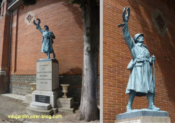 Toulouse, monument aux morts indochinois de 1914-1918 au cimetière de Salonique, 1, deux vues
