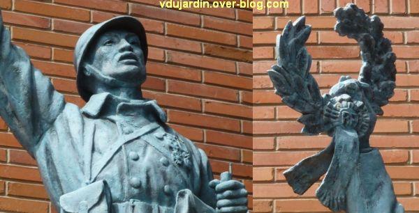 Toulouse, monument aux morts indochinois de 1914-1918 au cimetière de Salonique, 3, deux détails