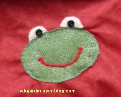 Une grenouille en appliqué