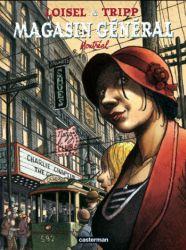 Couverture du tome 5, Montreal, du magasin général de Tripp et Loisel