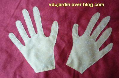 Des mains en appliqué