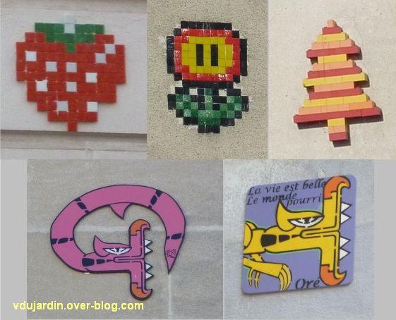 Nantes, art dans la rue, 10, des mosaïques