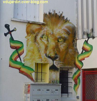 Nantes, art dans la rue, 11, un lion