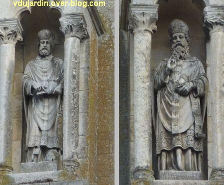 Niort, église Saint-Hilaire, 03, saints Ambroise et Anasthase sur la façade