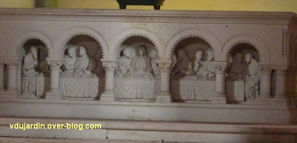 Niort, église Saint-Hilaire, 09, la Cène sur l'autel majeur du choeur