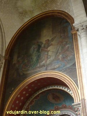 Niort, église Saint-Hilaire, 11, la peinture de Germain au nord