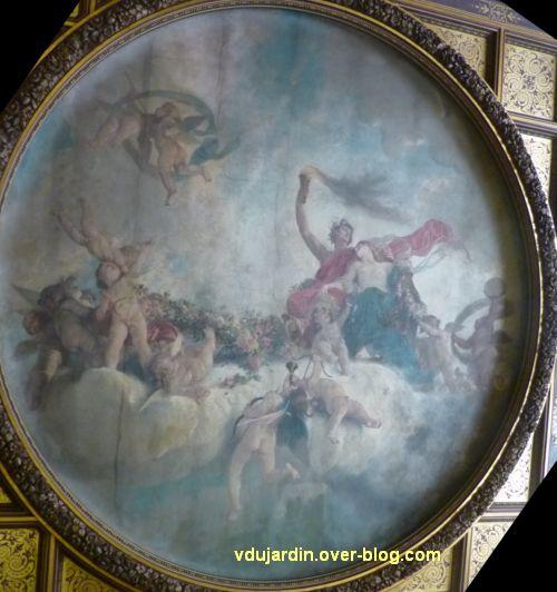 Poitiers, salle des mariages de l'hôtel de ville, 3, vue rapprochée du plafond