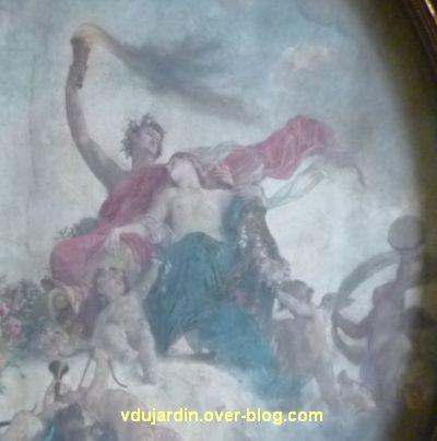 Poitiers, salle des mariages de l'hôtel de ville, 4, détail du plafond