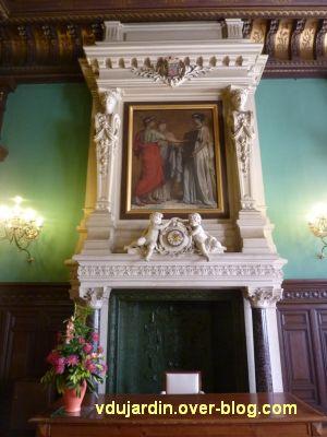 Poitiers, salle des mariages de l'hôtel de ville, 5, la cheminée