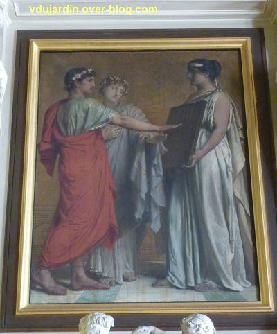 Poitiers, salle des mariages de l'hôtel de ville, 7, détail du tableau de la cheminée