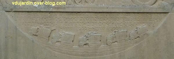 Saint-Jean-d'Angély, la croisière noire de Audouin-Dubreuil, 4, inscription et caravane de voitures