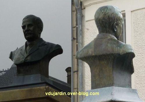 Le monument Lair à Saint-Jean-d'Angély, 05, le buste en bronze de face et de dos