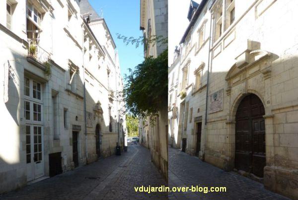 Tours, rue Paul Louis Courier, 01, hôtel particulier avec la plaque de Jeanne-d'Arc