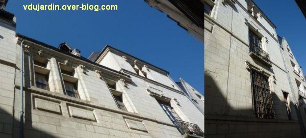 Tours, rue Paul Louis Courier, 03, fenêtres de l'hôtel particulier