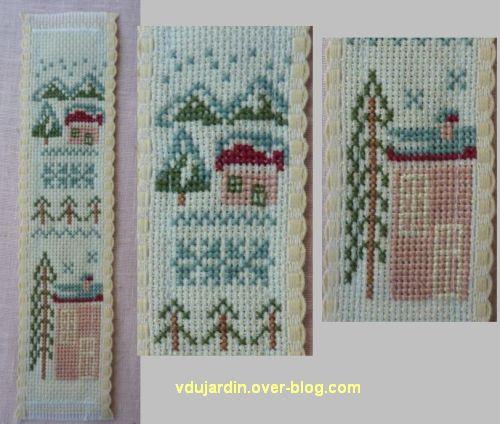 Noël 2012 par Dalinele, marque-page brodé