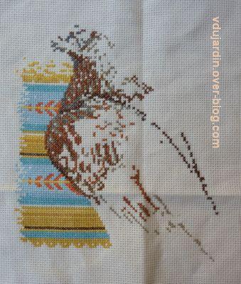 Aigle navajo, étape 2, le haut du corps et la tête, début