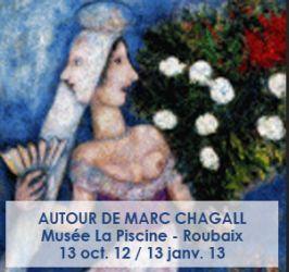 Affiche de l'exposition Chagall à Roubaix